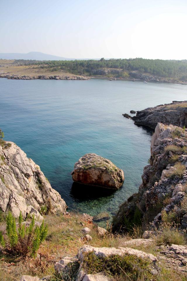 razgled iz klifov kjer so ostanki bizantinske utrdbe