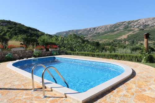 The pool behind the house - Apartments Krk